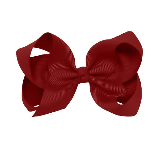 Evie Rose Red Classic Bow (Set of 2)