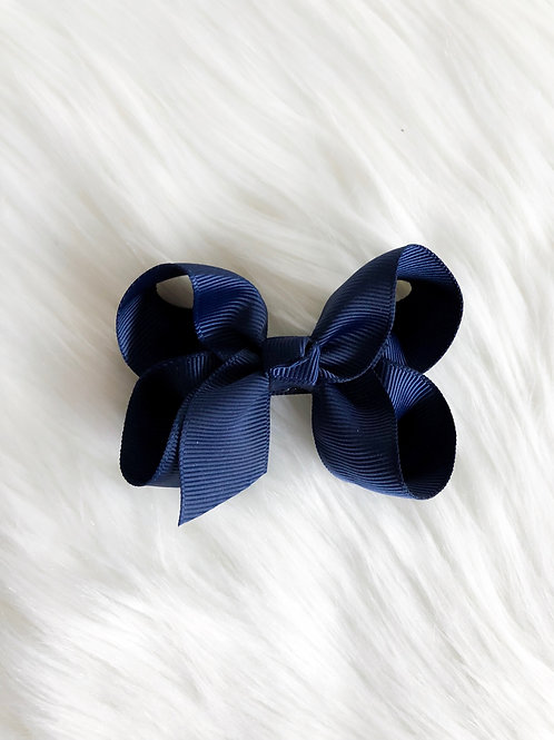 Navy Blue Classic Bow (Set of 2)