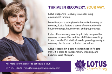Lotus Supportive Recovery Postcard