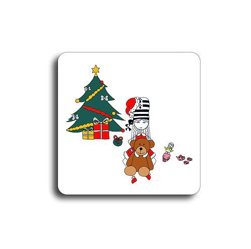 Sous-Verre - Petite fille Noël
