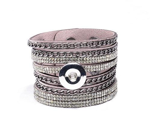 Bracelet multi-brins en cuir ZE179 18mm