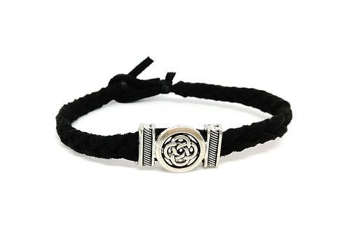 Bracelet suédine tressée noeud celtique