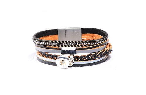 Bracelet en cuir KS0612-S 12mm