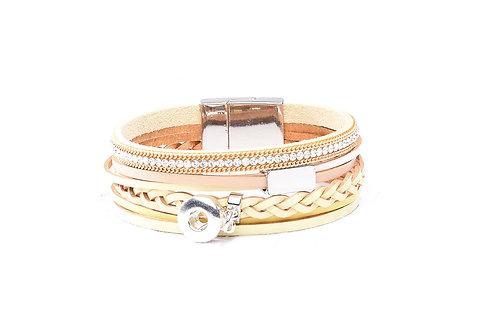 Bracelet en cuir KS0610-S 12mm