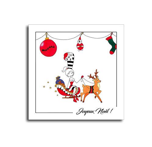 Carte - Joyeux Noël traineau