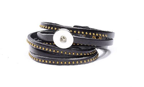 Bracelet double tour en cuir véritable TP001 18mm