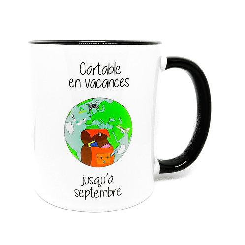 Mug - Cartable en vacances