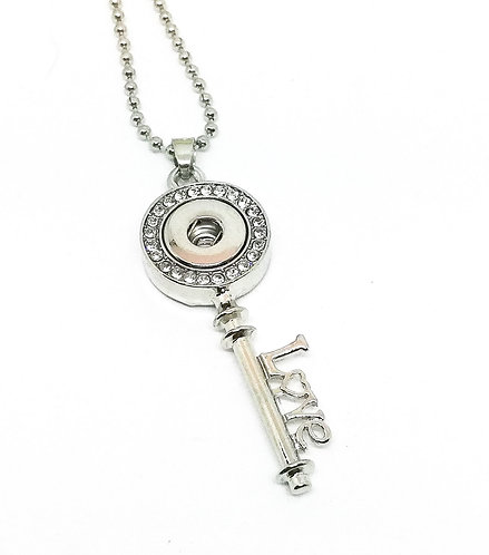 Collier bouton-pression clé 12mm
