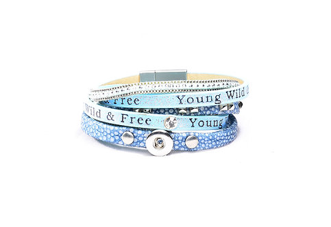 Bracelet Young bleu 12mm