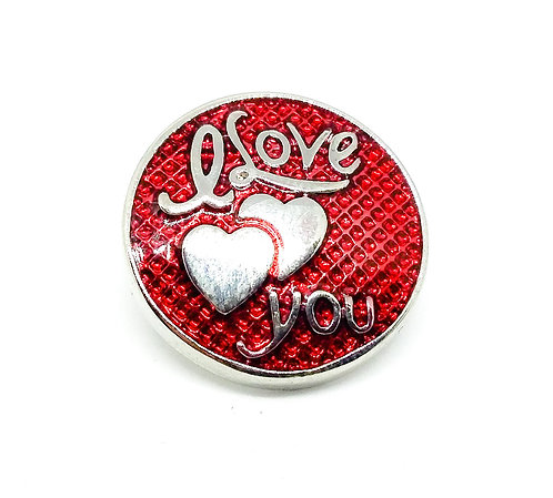 Bouton-pression I love you rouge KC6104 18mm
