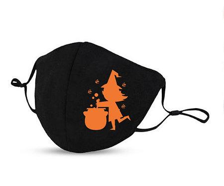 Masque Halloween sorcière chaudron