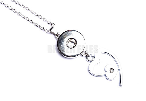 Collier bouton-pression Coeur 2 18mm