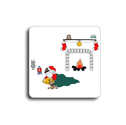 Sous-Verre - Petit garçon Noël