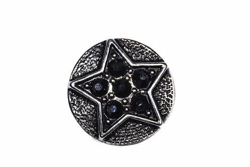 Bouton-pression étoile 18mm