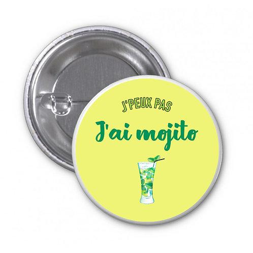 Badge - J'peux pas j'ai mojito