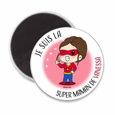 Magnet - Super Maman personnalisé