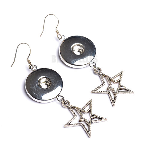 Boucles d'oreilles boutons-pression étoile 3 18mm