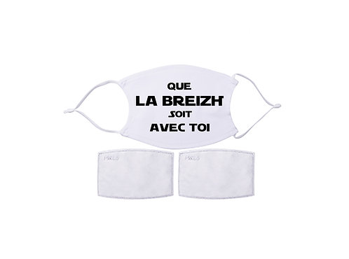 Masque avec filtre - Que la Breizh soit avec toi
