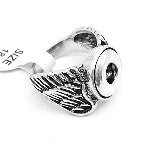 """Bague bouton-pression """"Mini"""" ailes 12mm"""