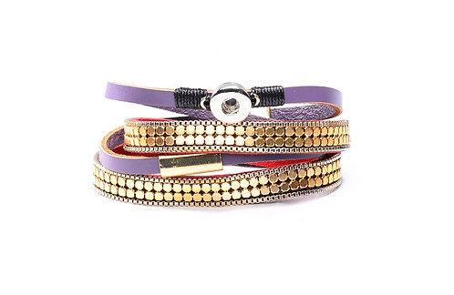 Bracelet en cuir KS0608-S 12mm