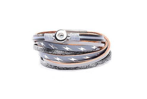 Bracelet éclair en cuir KS0623-S 12mm