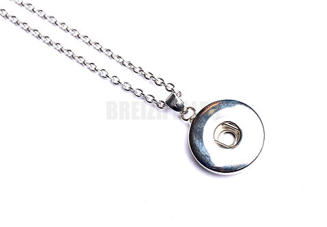 Collier bouton-pression rond 18mm