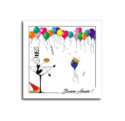 Carte - Bonne Année Ballons