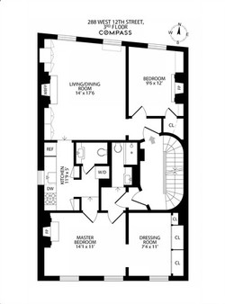 West Village Two Bedroom - Floorplan