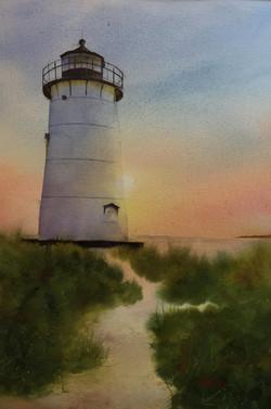 Sunrise at Edgartown Light