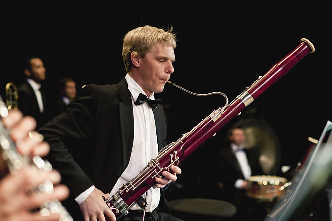 Man Playing Bassoon