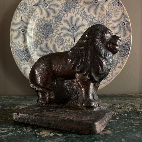NOW SOLD - Victorian cast iron lion