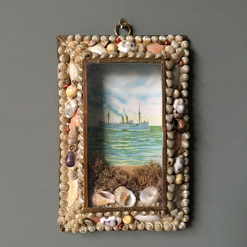 NOW SOLD - Victorian Sailor's shell valentine - no.1