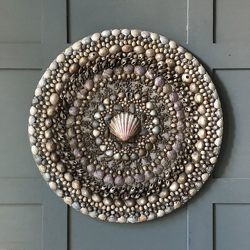 NOW SOLD - Vintage folk art shellwork panel