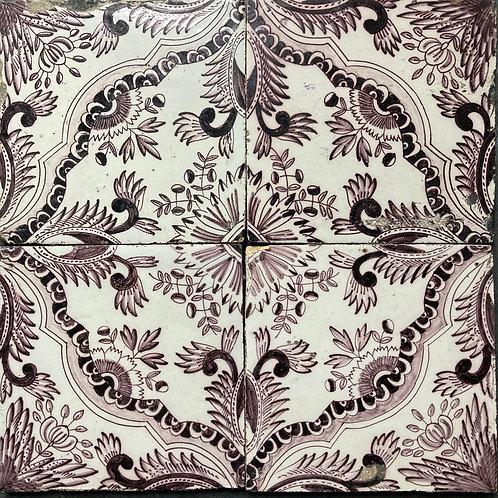 NOW SOLD - Four 18th century Delft tiles (set 1