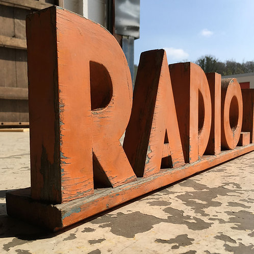 NOW SOLD - Art Deco Radio Shop sign