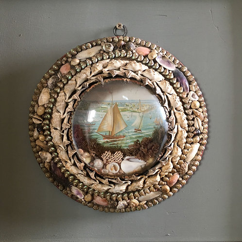 NOW SOLD - Victorian Sailor's shell valentine