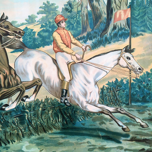 NOW SOLD - Victorian horse-racing chromolithograph print