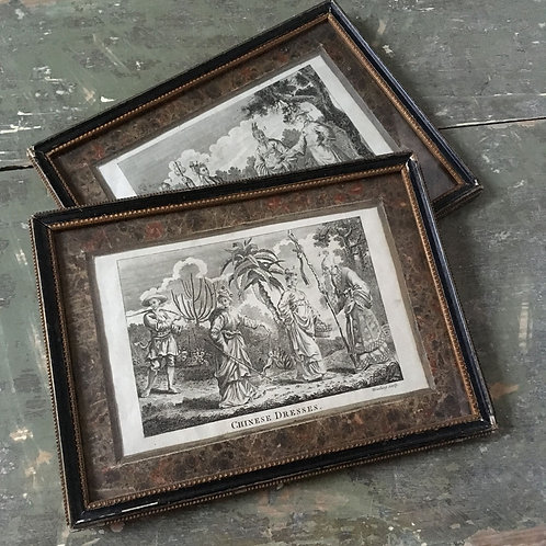 NOW SOLD - Pair of 18th C chinoiserie engravings by Wooding