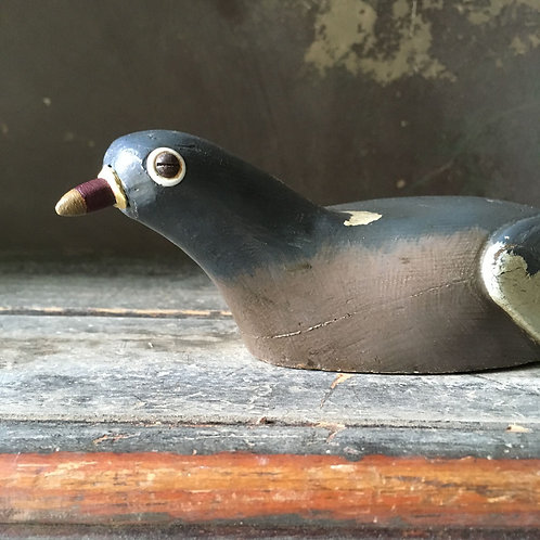 NOW SOLD - Vintage wood pigeon decoy - Ted Grace
