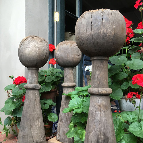 NOW SOLD - Victorian carved oak finials