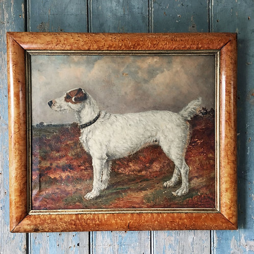 NOW SOLD - 19th C fox terrier dog painting