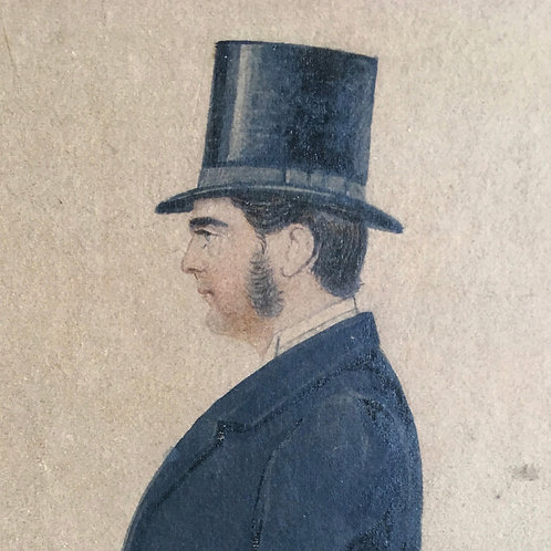 NOW SOLD - Gentleman watercolour portrait by Richard Dighton