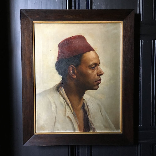 NOW SOLD - 19th C oil painting - 'Orientalist Portrait'