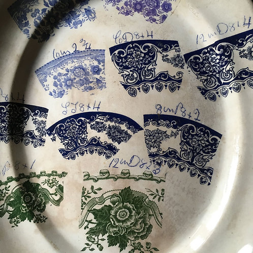 NOW SOLD - Victorian Pottery sample plate