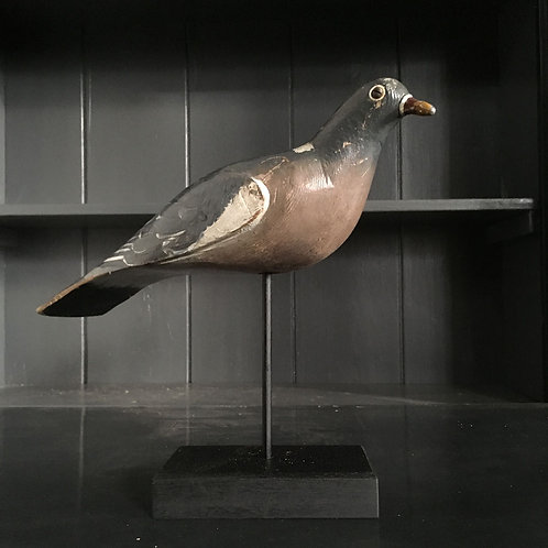 NOW SOLD - Vintage wooden decoy pigeon - No.1