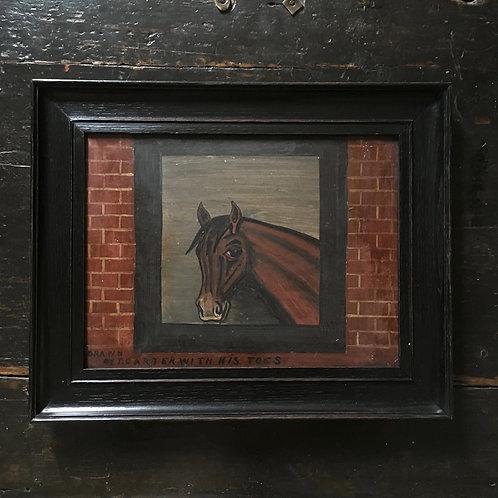 Naive horse oil painting - No.2