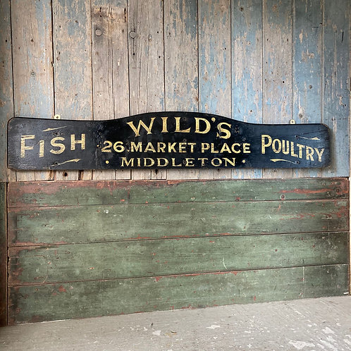 NOW SOLD - Vintage painted shop sign