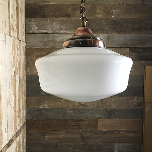 NOW SOLD - Large opaline glass pendant light