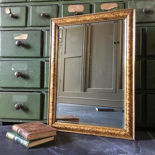 Antique scumbled paint mirror