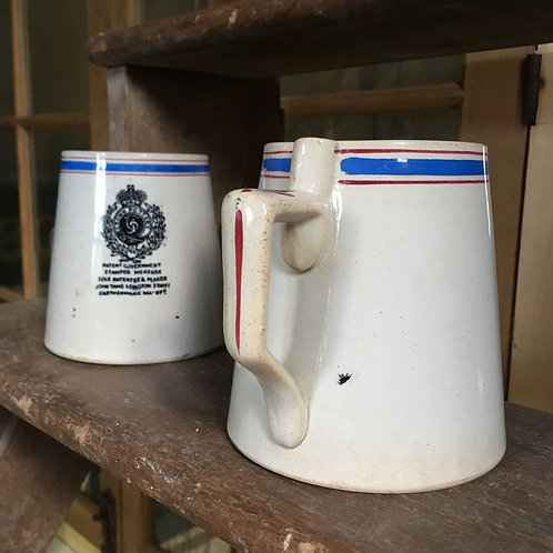 NOW SOLD - Pair of 19th C Earthenware mugs